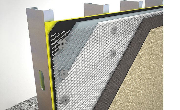 Attaching Lath for Adhered Masonry Veneer over Continuous Insulation