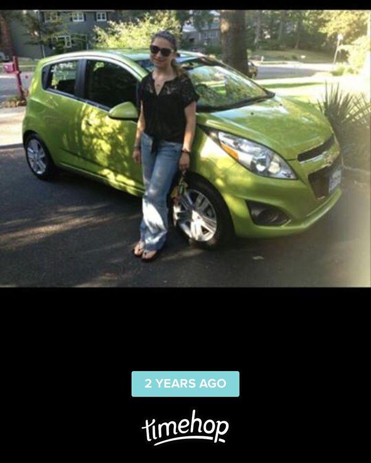 Aww Samantha (my car) is two years old today! Happy birthday Sammy! #Chevy #chevyspark #spark #car #green #birthday #twoyears