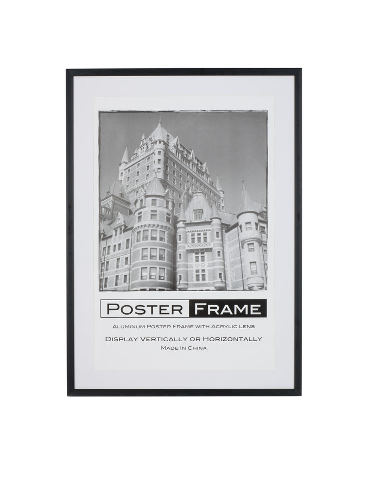 24 x 36 poster frame for wall rear load 2 matsblack