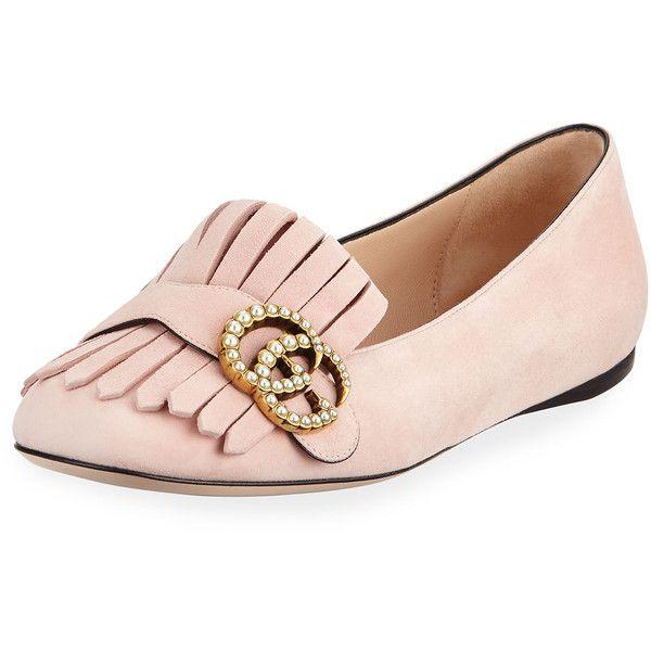 Gucci Marmont Kiltie Suede Flat (29,115