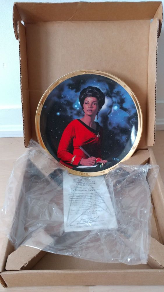 Star Trek - 25th Anniversary Hamilton collector UHURA plate