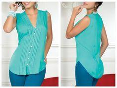 modelos de blusas de chifon patrones - Buscar con Google