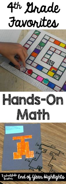 If you're on the lookout for great hands-on math activities for your upper elementary students, you're going to love the ideas at this blog post. Your 3rd, 4th, 5th, & 6th grade classroom or homeschool students are going to love the geometry, measurement, place value, area & perimeter, & games found here! You'll even get ideas for math concept sorts. Click through for all the details on how this can improve your math, STEAM, or project-based learning lessons. {third, fourth, fifth, sixth…