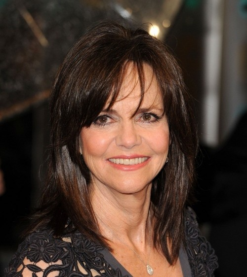 Sally Field - midlength with bangs