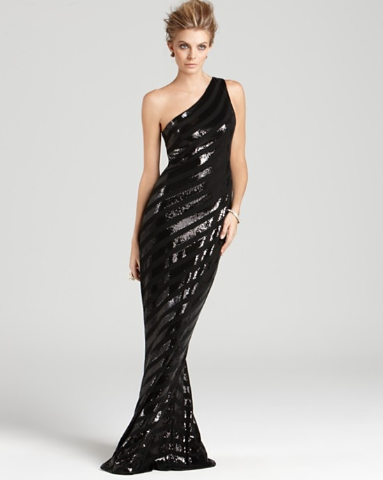 David Meister One Shoulder Gown - Sequin Bloomingdale\'s | ::Fashion ...