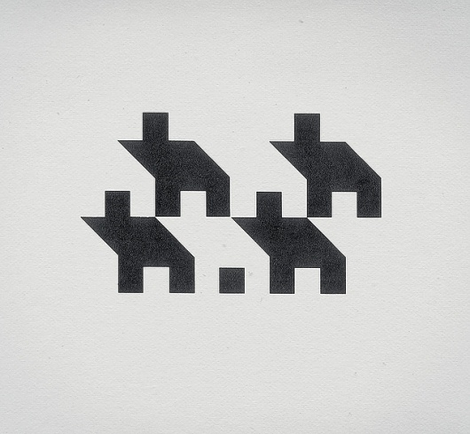 simple icons depicting a group of housings/community/niche