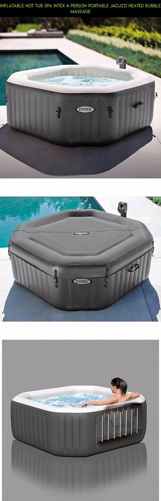 Cheap diy hot tub jacuzzi 4 - Inflatable Hot Tub Spa Intex 4 Person Portable Jacuzzi Heated Bubble Massage Tubs Gadgets