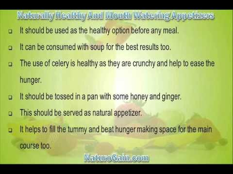 This video describes about powerful and naturally healthy and mouth watering appetizers to eat. You can find more detail about Home recipes at http://www.naturogain.com