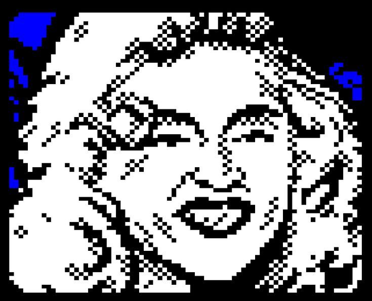 Teletext art // Retro Unlim // Madonna