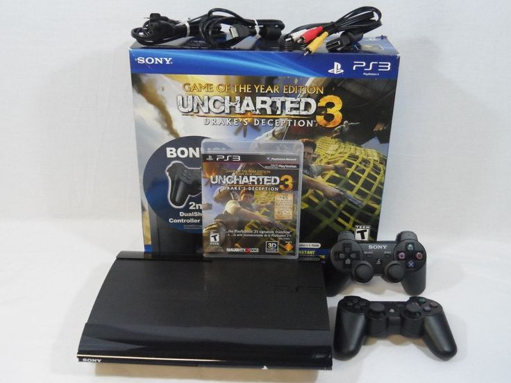 Sony Playstation 3 Super Slim Uncharted 3: Game Of The Year Edition 250 GB... #Sony