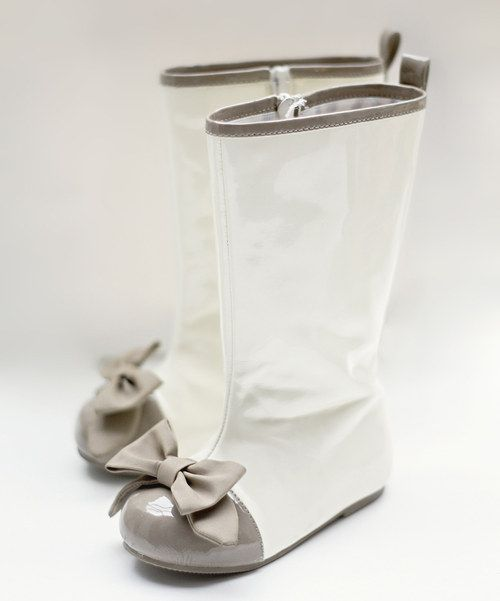 Little girl vintage-inspired, faux leather boots