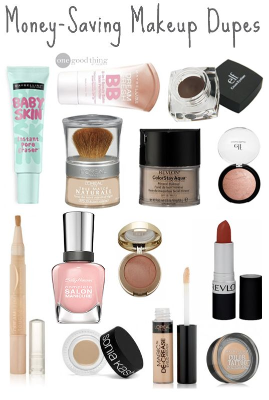 Makeup Dupes to find inexpensive alternatives to all of your favorite high-end cosmetics!