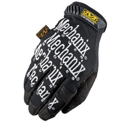 Mechanix Wear 2X Black Original Full Finger Synthetic Leather, Spandex And Rubber Mechanics Gloves With Hook and Loop Cuff, Synthetic Leather Palm And Fingertips And Spandex Back