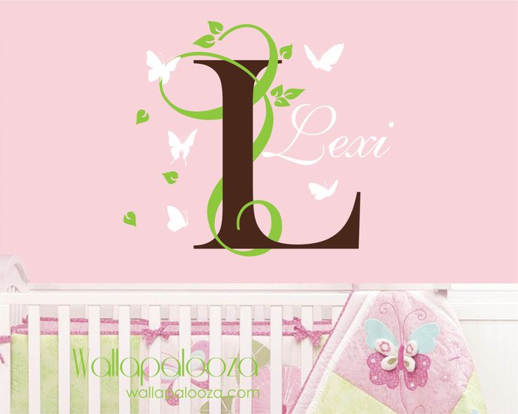 Butterfly And Name Wall Decal   Nursery Wall Decal   Girls Room Wall Decal    Name Wall Decal   Nursery Wall Decor   Butterfly Wall Decal