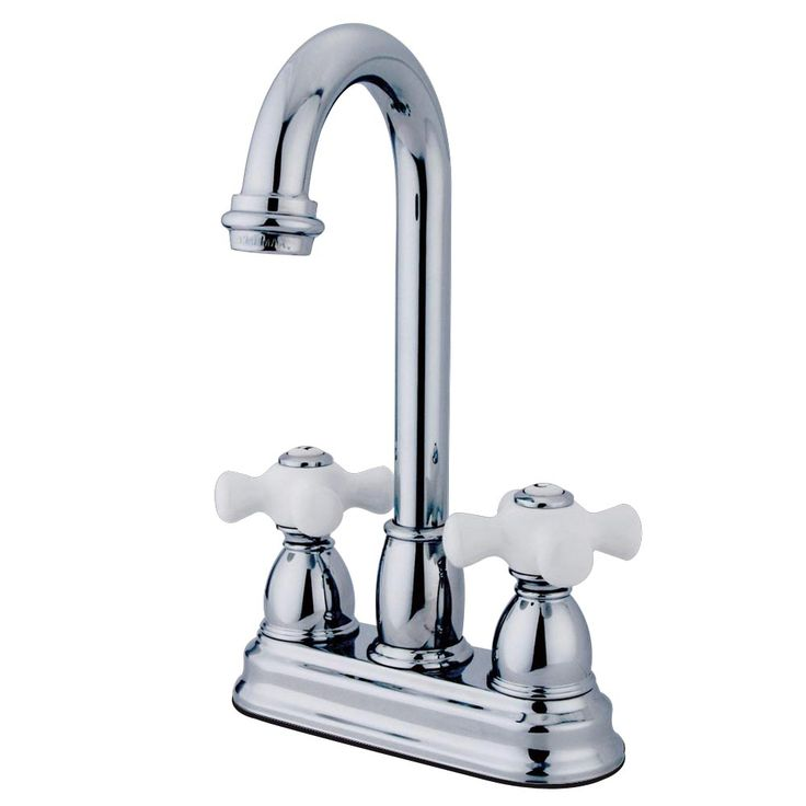 "Kingston Brass KB3491PX Restoration 4"" Centerset Bar Faucet, Chrome - Price: $129.95 & FREE Shipping over $99"