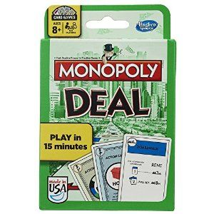 Monopoly Deal Card Game List Price:CDN$ 59.90 Price:CDN$ 25.98 & FREE Shipping. Details You Save:CDN$ 33.92 (57%) Only 2 left in stock.