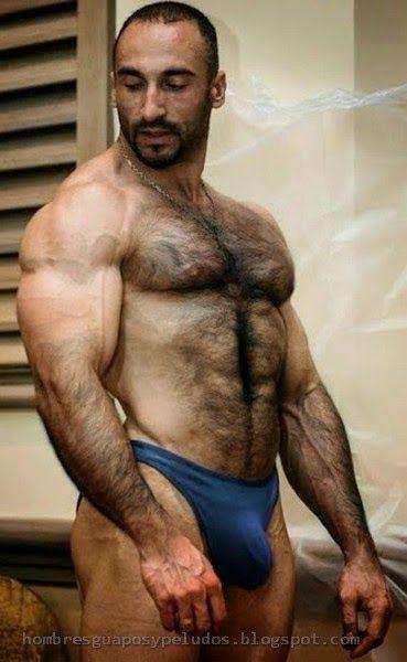 Peludo En Sunga  Hombres Musculosos, Hombres Peludos Y Oso Musculoso-7643