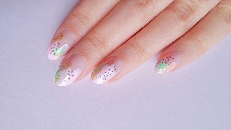 "DIY Abstract art nail design | Σχέδιο νυχιών ""αφηρημένη τέχνη"""