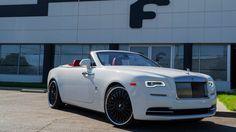 White Rolls Royce Dawn on Black Forgiatos !