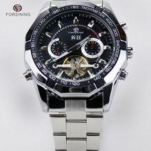 Newest Forsining Tourbillon Design Clock Men Automatic Montre Watch Skeleton Military Watch Mechanical Relogio Male Erkek Saat(China (Mainland))