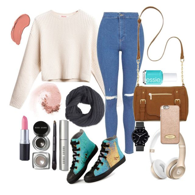 Untitled #22 by lauralionels on Polyvore featuring polyvore мода style Topshop New Directions The Horse Frenchi MICHAEL Michael Kors Bobbi Brown Cosmetics NARS Cosmetics NYX Essie fashion clothing