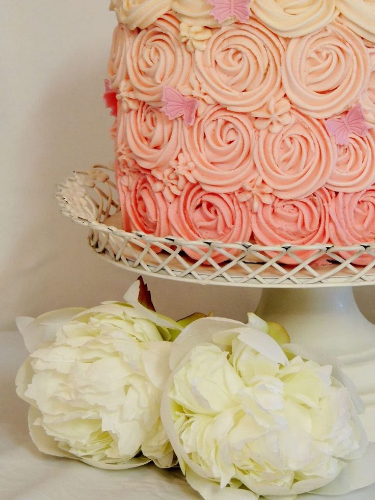 Photo supplied from sweet tooth cakes. Ombré cake. 1st birthday
