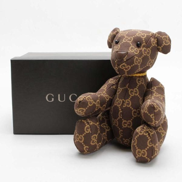 ff3adc26842 GUCCI Teddy Bear GG Canvas Other Brown Canvas 32896