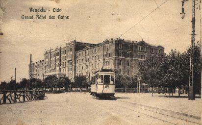 Venezia - Lido - Grand Hotel des Bains - tram primo piano
