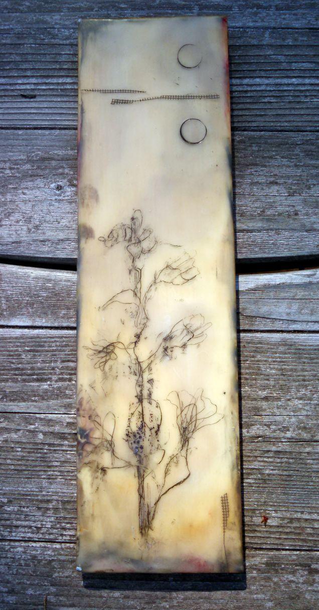 Encaustic on wood www.kathievezzani.com