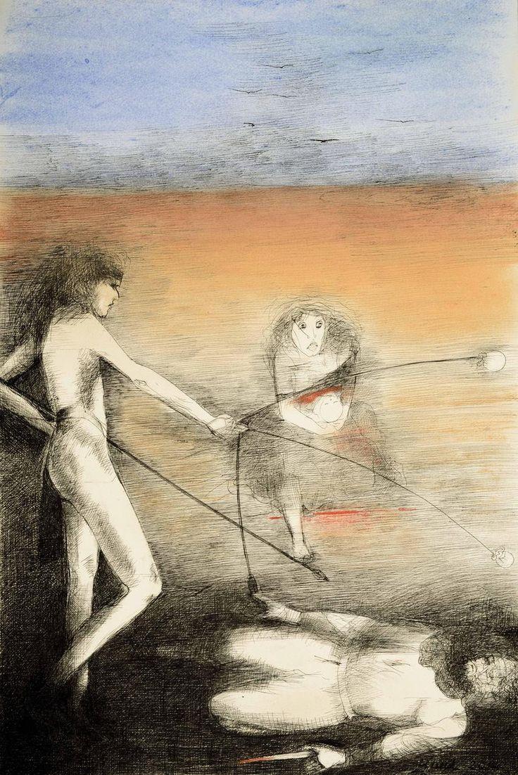 MARTÍN FIERRO, No salvan de su juror ni los pobres anjelitos,  Artista Rosenell Baud.