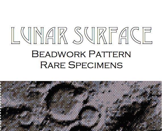 Lunar Surface Peyote Stitch/Brick Stitch Beadwork by RareSpecimens