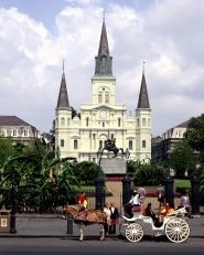 Visit St. Louis Cathedral, a Jackson Square historic landmark and architectural marvel. #Travel #NewOrleans #NOLA #Architecture