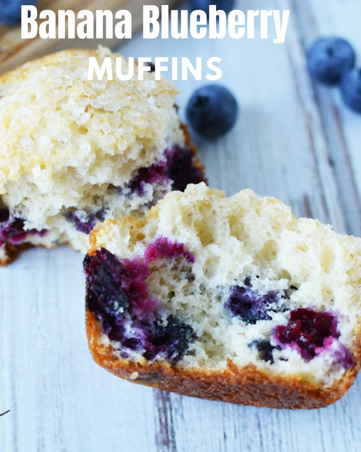 Moist and flavorful, these banana blueberry muffins are perfect for a snack or an early morning breakfast on the go!