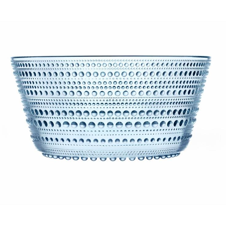 Kastehelmi Serving Bowl Blue by Oiva Toikka
