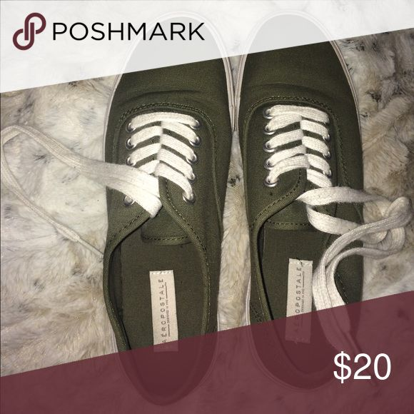 Olive Green Shoes Great condition, worn only a couple of times. Aeropostale Shoes