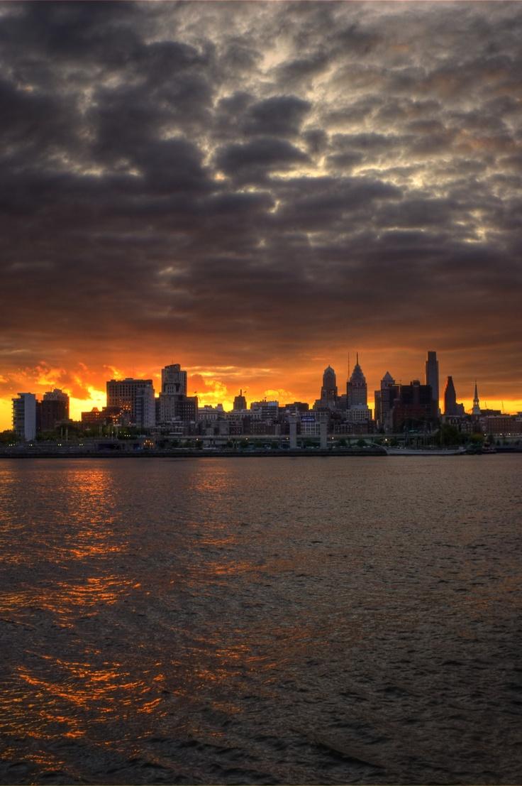 Philadelphia Skyline from Camden Waterfront