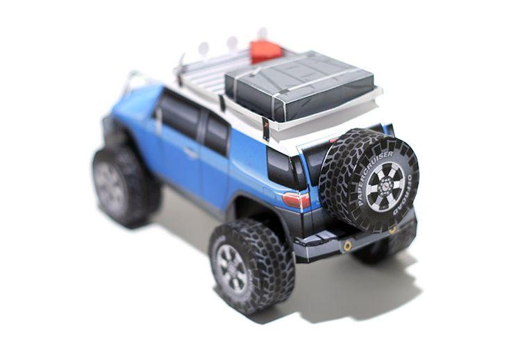 FJ Cruiser paper model | http://papercruiser.com/?wpsc-product=custom-fj-cruiser