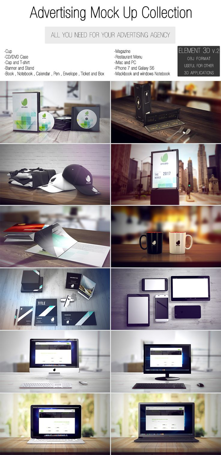 Please rate here  and support us.  Features:  After Effects CS5.5 and above Element 3D v.2 required  Full HD 1920*1080 (changeable resolution 4k) Easy customize Well organization 25 realistic 3D mo...