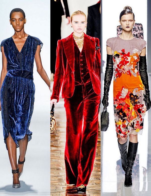 Rebecca Taylor, Ralph Lauren, Bottega Veneta   Fall 2012 Trends: Velvet