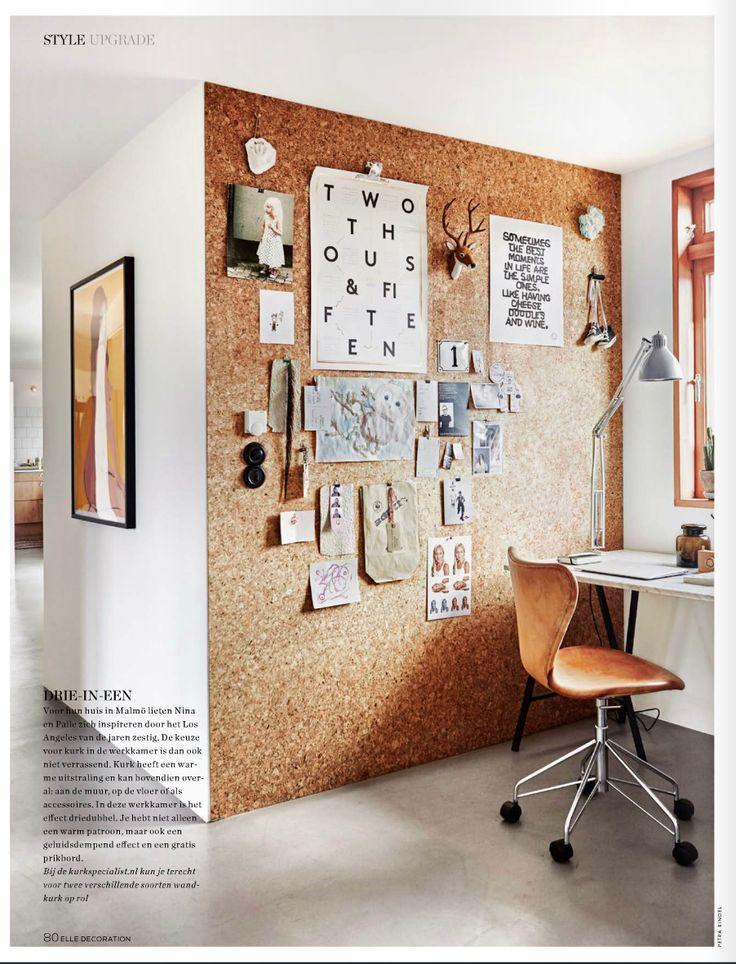 Kurken muur (Elle Decoration sep'15)