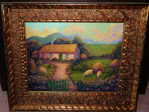 Irish Cottage Painting John Waynes White O Morn Cottage