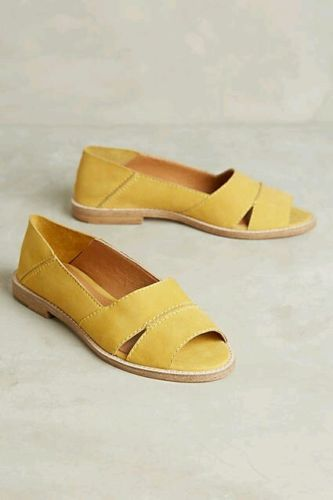 NEW Anthropologie Kelsi Dagger Brooklyn Yellow Samantha Flat Sandals Size 7 in Clothing, Shoes & Accessories, Women's Shoes, Sandals & Flip Flops    Different color