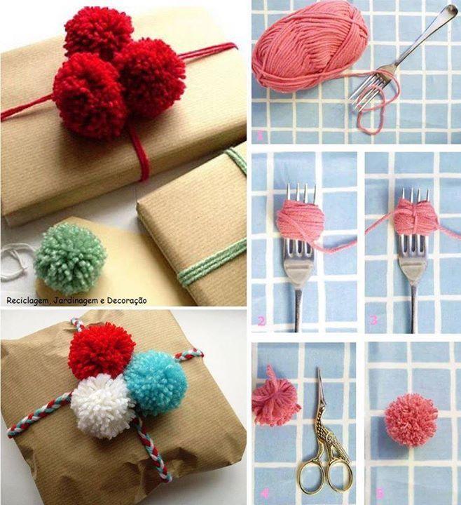 17 meilleures images propos de avec de la laine sur pinterest arbres m tiers tricoter et - Pompon avec une fourchette ...