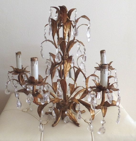 153 best vintage chandeliers sconces images on pinterest gorgeous vintage italian tole chandelier with by roseberrymanor aloadofball Gallery