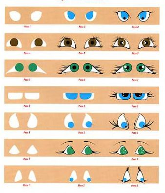 Air dry clay tutorials painting eyes step by step for Clay mural tutorial