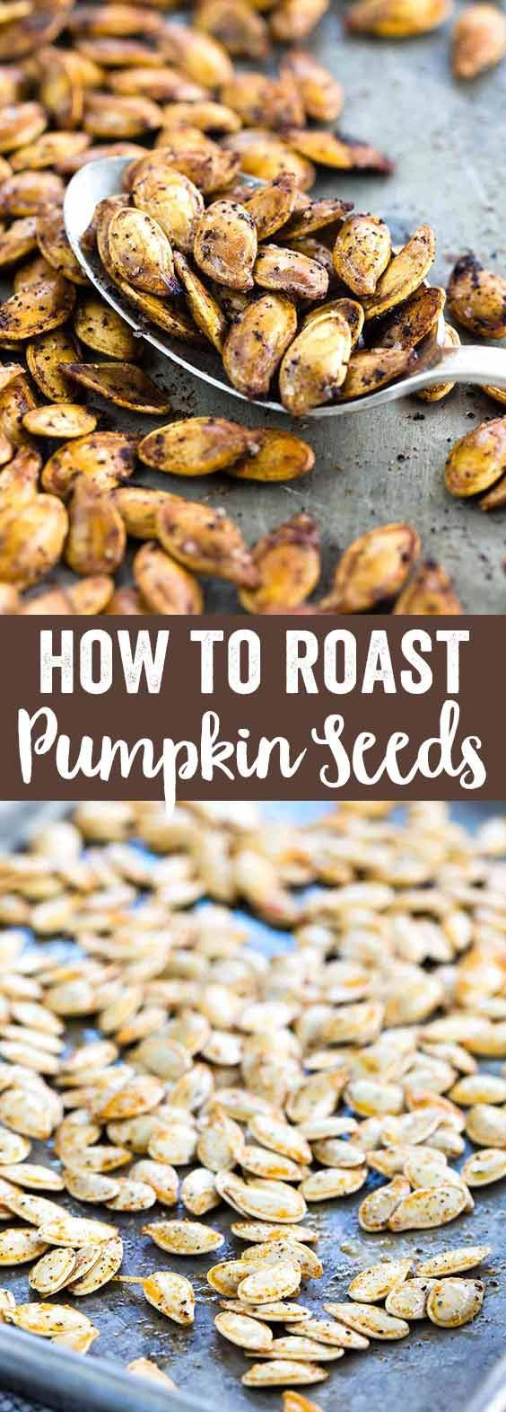 Save the seeds from your pumpkins this year and make roasted pumpkin seeds for a healthy, crunchy snack.  via @foodiegavin