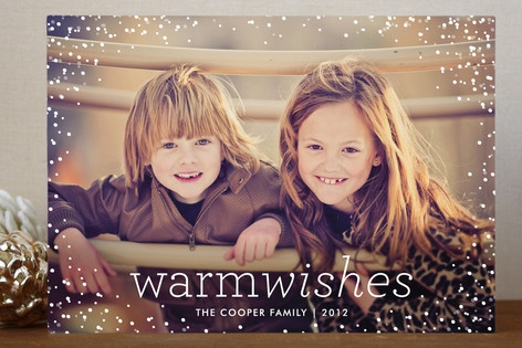 Snow Flurry Holiday Postcards by Palm Papers at minted.com Giveaway coming to PeanutButterandWhine.com !!