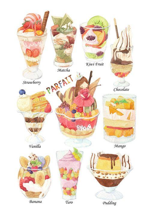 #Hy.Cony-Sweety系列#-芭...@弥璃采集到甜品(357图)_花瓣插画/漫画