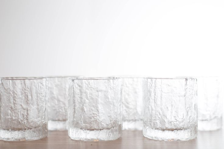 Vintage Icicle Glasses / Frosty Scandinavian Finnish Style Frosted Finland Cocktail Glasses / Mid Century Modern Ice Design Norwegian Glass by secondvoyagevintage on Etsy https://www.etsy.com/ca/listing/534877252/vintage-icicle-glasses-frosty