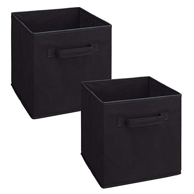 Closetmaid 8298 Cubeicals Fabric Drawer Black 2 Pack Review Fabric Drawers Closetmaid Storage And Organization